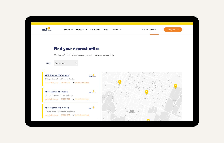MTF Finance office map