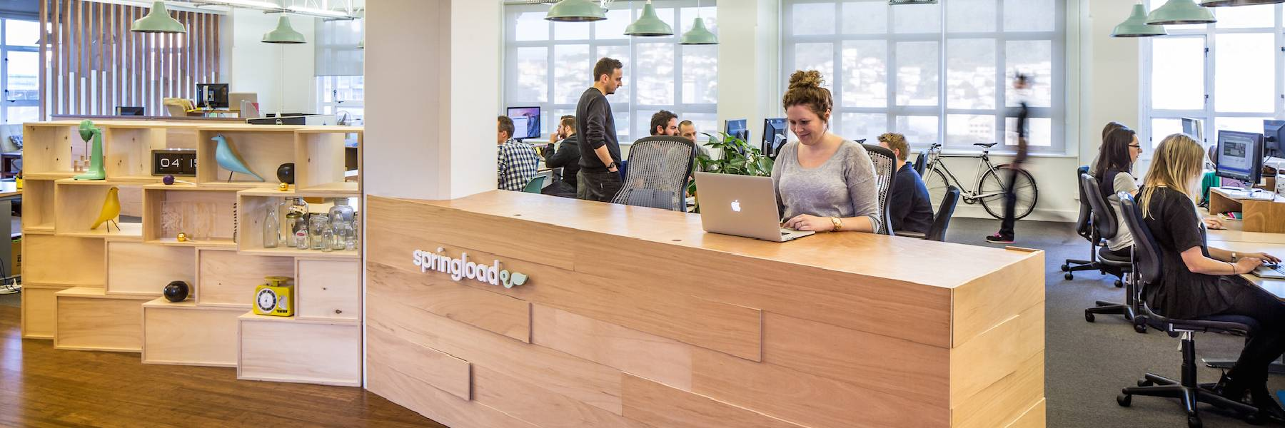 The Springload office reception area