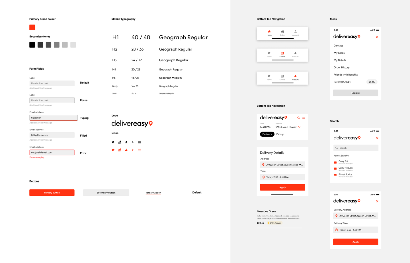 Delivereasy font and components.png