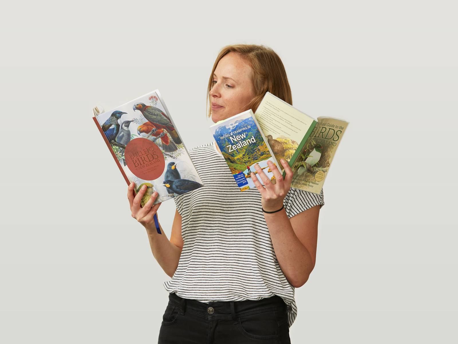 Fran Evans with books