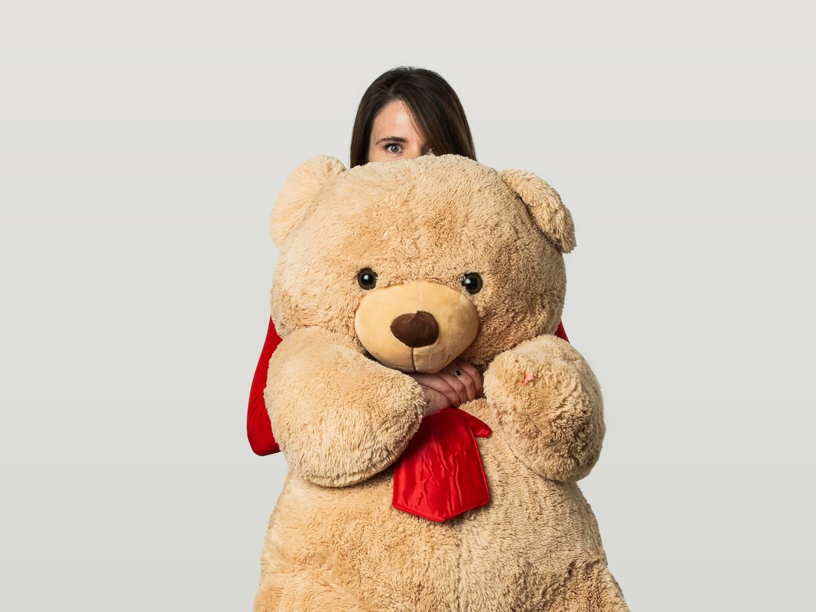 Lauren with a huge teddy
